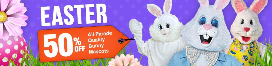 Easter 50% off bunny costumes