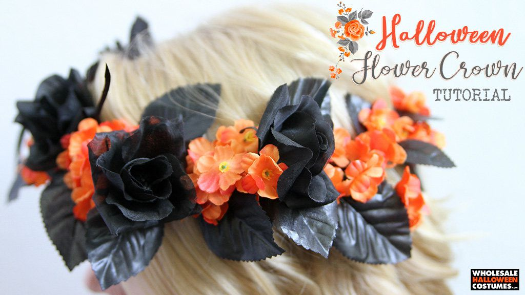 DIY Halloween Flower Crown