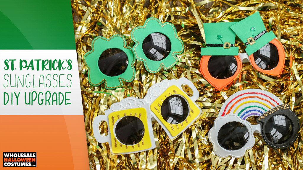 DIY St. Patrick's Day Sunglasses