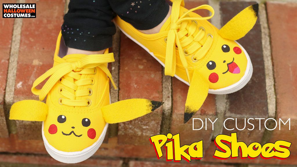 DIY Pikachu Shoes