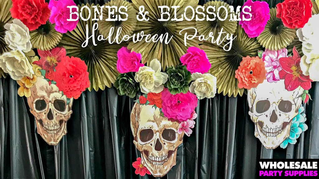 Bones and Blossoms Party Idea