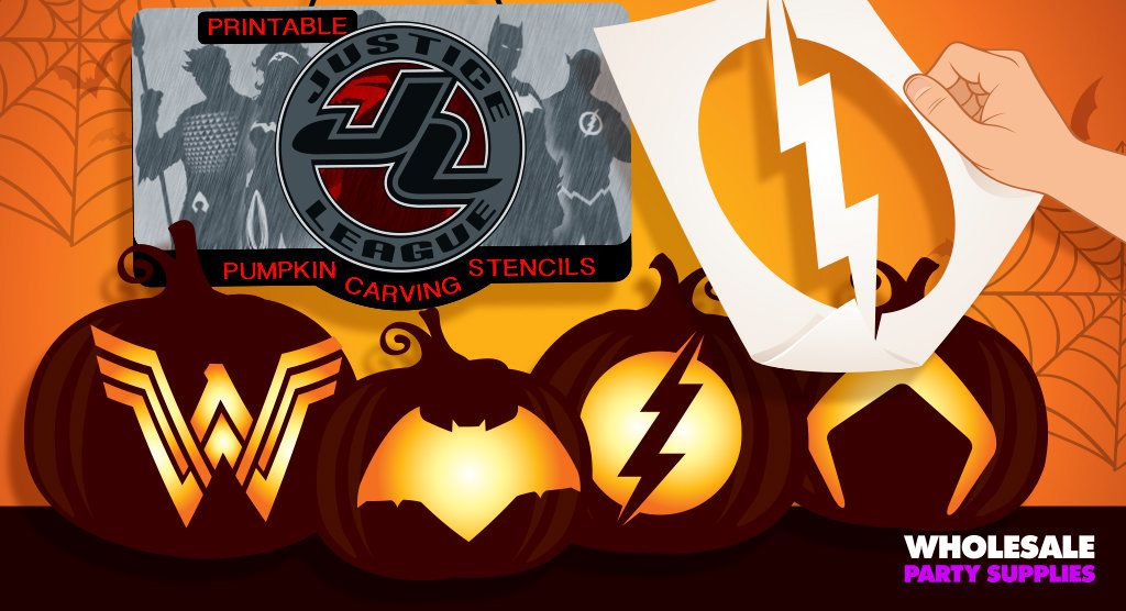 Justice League Pumpkin Stencils