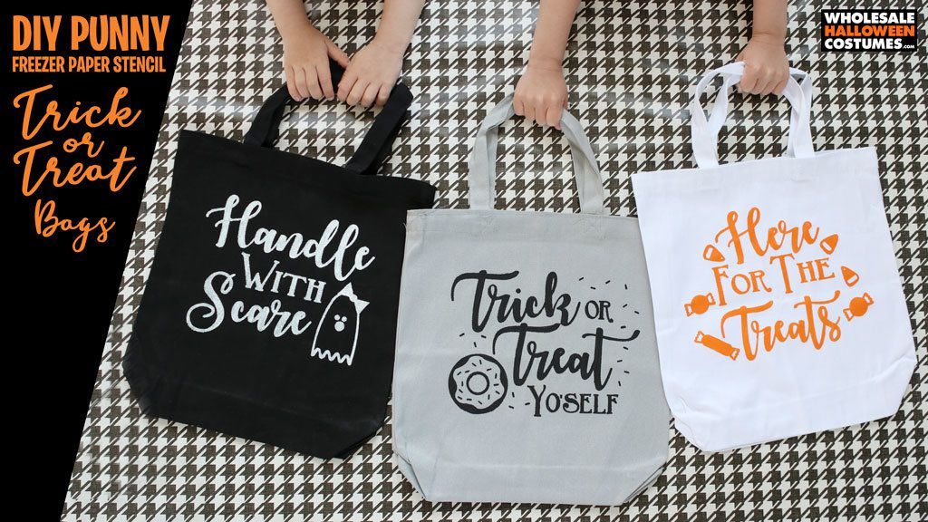 DIY Punny Trick-or-Treat Bags