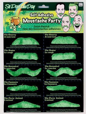 10 Self Adhesive St. Pat's Moustaches