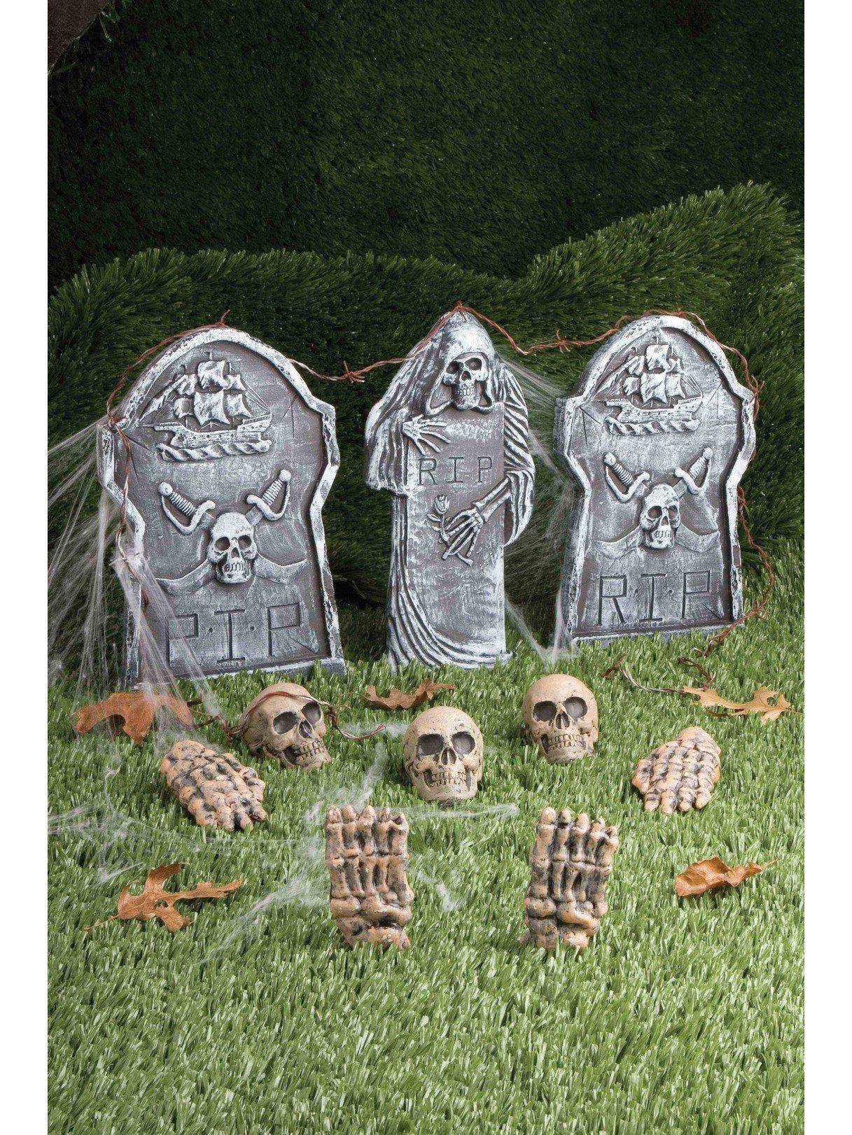 12 piece Cemetery Decoration Kit Halloween Decorations for
