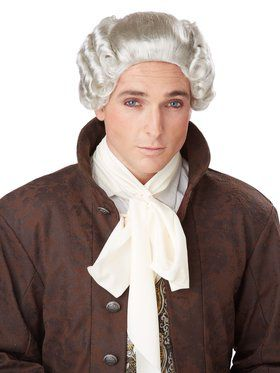 18th Century Grey Peruke Men's Wig