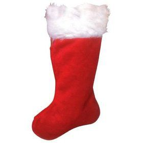 "19"" Plush Christmas Stocking"