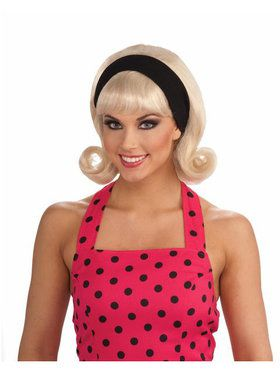 1950s Wig w/detachable Headband Blonde Adult