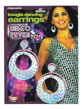 1970's Disco Boogie Dancing Earrings