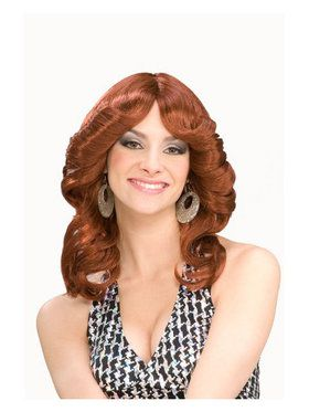 1970's Disco Doll Auburn Wig Adult