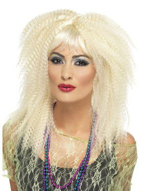 1980's Blonde Crimped Adult Wig