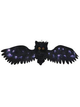 2.5 ft wide Black Light Up Owl Decoration