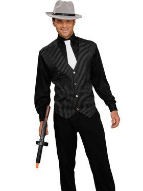 20s Gangster Shirt, Vest and Tie Adult