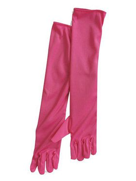 20s Hot Pink Flapper Gloves