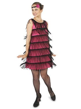 20's Pink Flapper Costume For Adults
