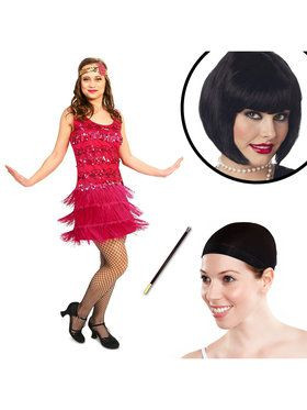 20s Vintage Inspired Flapper Adult Costume Kit