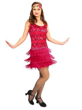 Adult 20's Vintage Inspired Flapper Costume For Adults