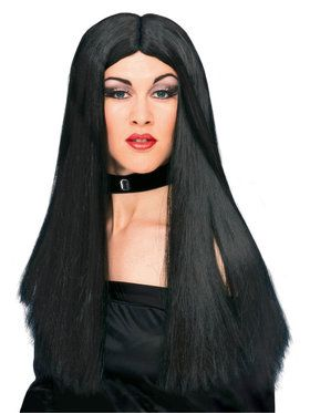 24' Black Long Synthetic Wig