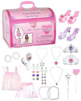 28 Piece Princess Dress Up Trunk Girl's Costume
