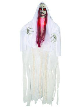 Light-up 3' Haunted Red Doll Decoration