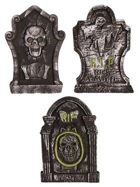 3 Piece RIP Tombstone Assortment Decoration
