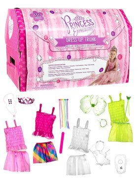 30 Piece Dress Up Trunk Girl's Costume
