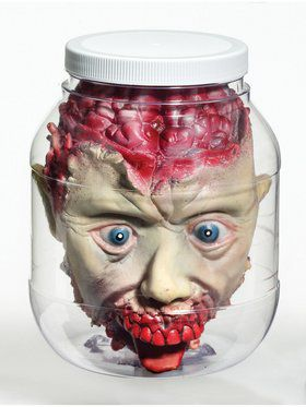3D Head In Jar Decoration