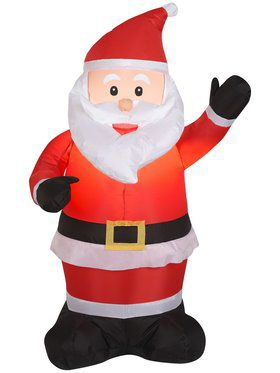 4 Foot Santa Airblown Inflatable Decoration