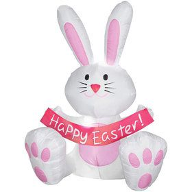 42 Inch Happy Easter Bunny Airblown Inflatable
