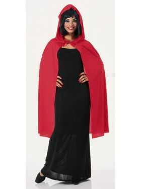"45"" Hooded Red Cape"