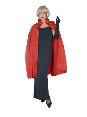 "45"" Red Satin Cape for Adults"