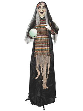 5' Animated Standing Fortune Telling Witch Decoration