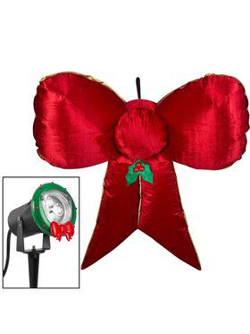 5 Foot Hanging Velvet Bow Airblown Decoration