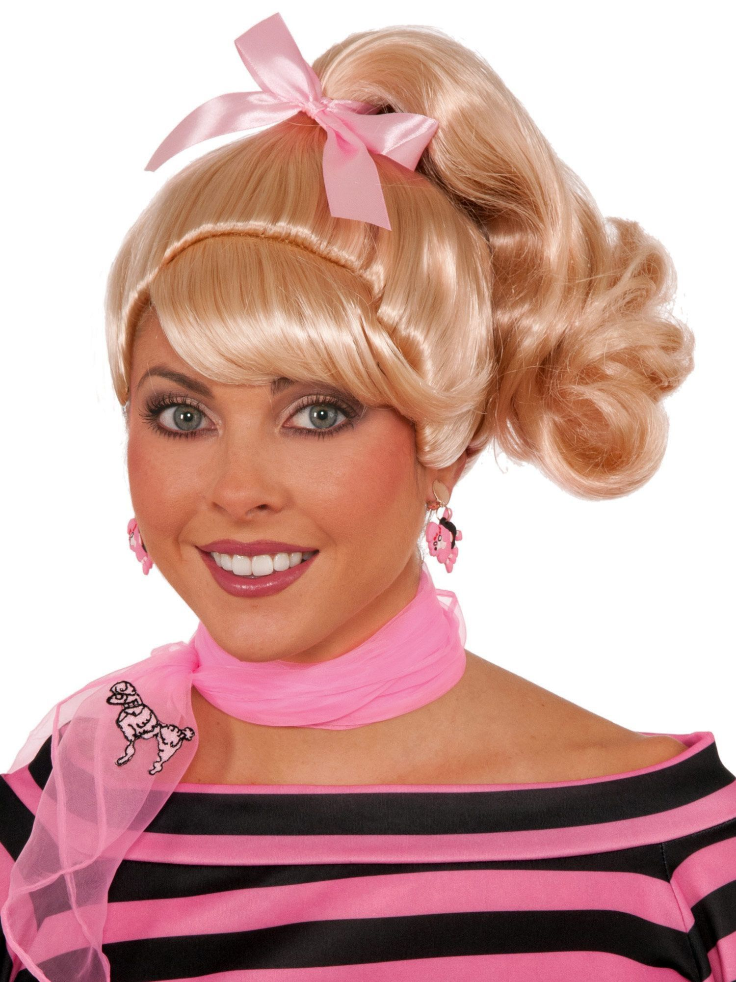 50s Blonde Ponytail Wig Adult Costume Accessories For