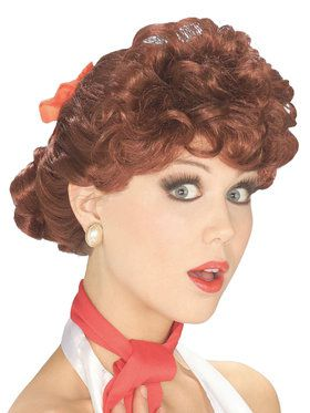 50's Housewife Wig Accessory Auburn