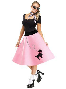50s Pink Poodle Skirt Adult