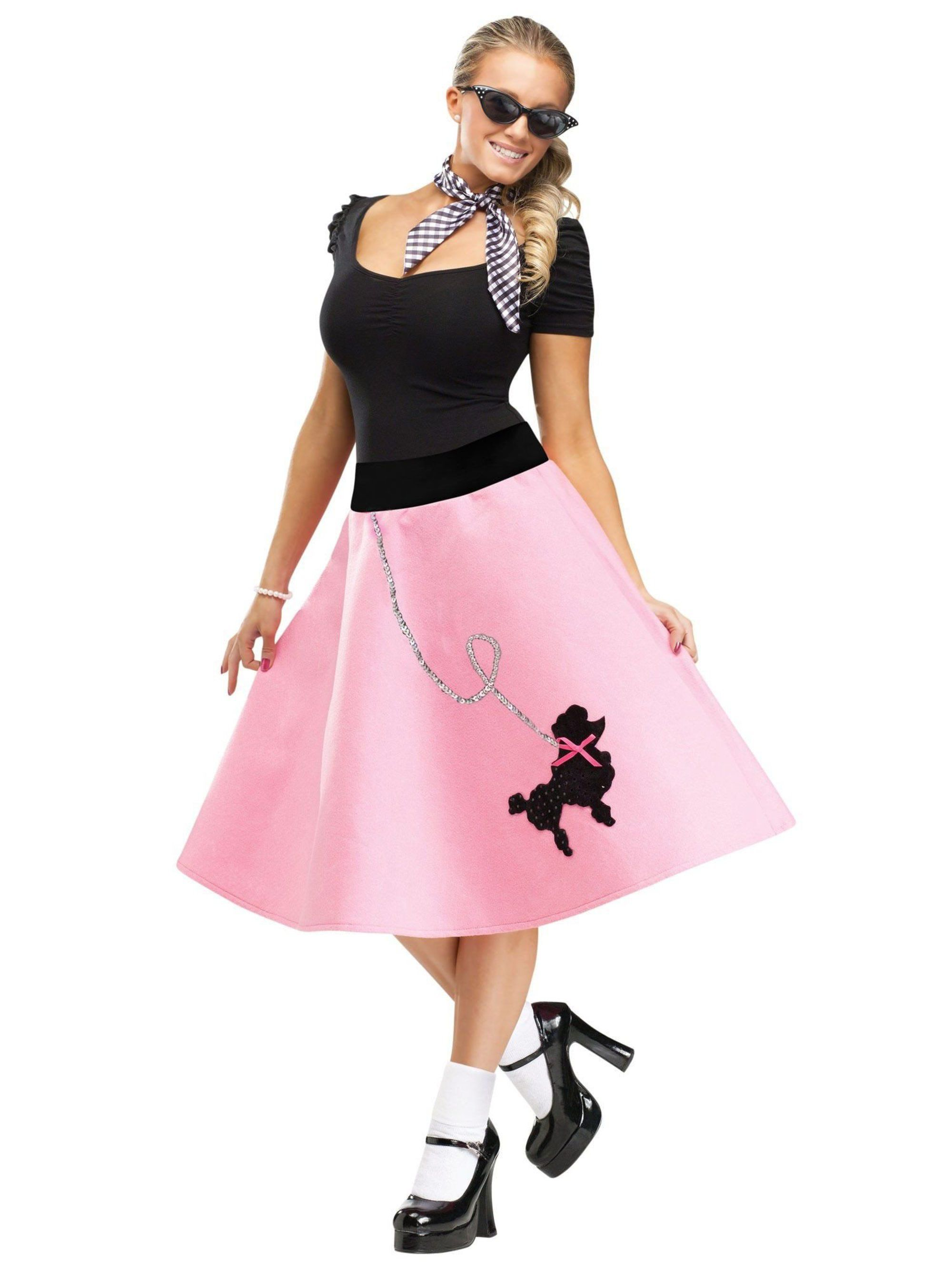 985be98d20271 50s Pink Poodle Skirt Adult. View Larger Image. Larger View of Product;  Larger View of Product ...