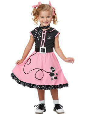 50's Poodle Cutie Costume Toddler
