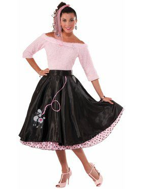50's Poodle Skirt Costume Black