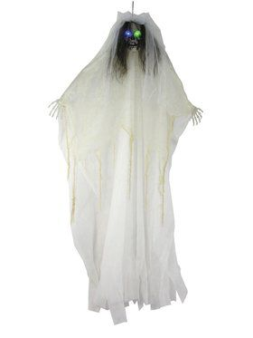 "57"" Light Up Bride Skull Decoration"