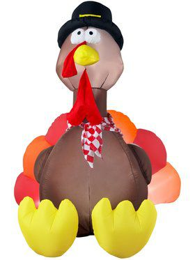 6 Foot Airblown Inflatable Turkey Decoration