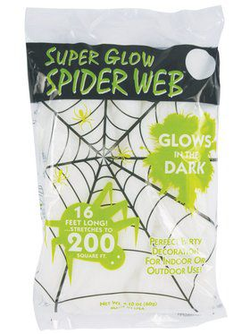 60 Gram Glow in the Dark Spider Web