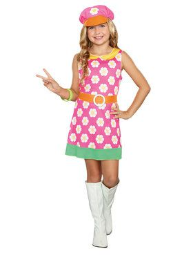 60's Girly A Go Girl's Costume
