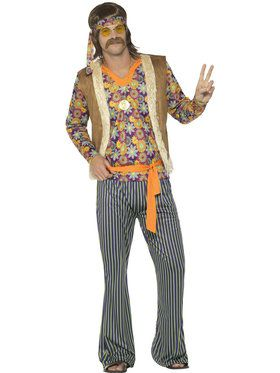 60's Hippie Singer Costume For Men