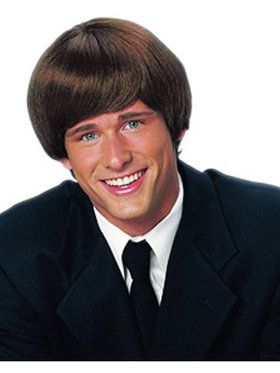 60s Mod Style Brown Wig