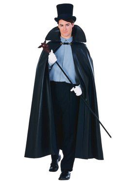 63 Inch Leather Look Cape Adult Costume