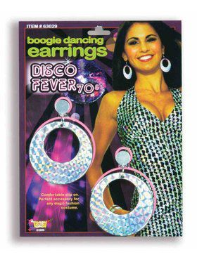 1970s Boogie Dancing Disco Earrings