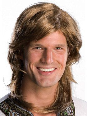 70s Guy Brown Wig For Adults