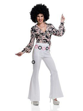 70's Hottie Disco Shirt Women's Costume
