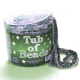 72 Piece Bucket of Bead Necklaces - Green